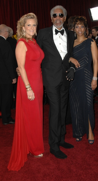 Morgan Freeman, Lori McCreary, and Morgana Freeman