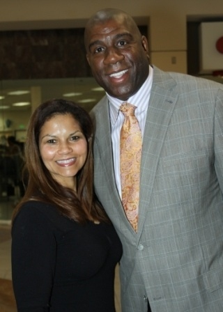Juliette Fairley and Magic Johnson