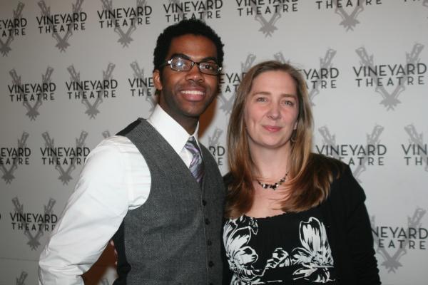 Julius Thomas III (The Scottsboro Boys) and Jennifer Garvey-Blackwell at Kander Celebration @ Vineyard - Arrivals and Reception