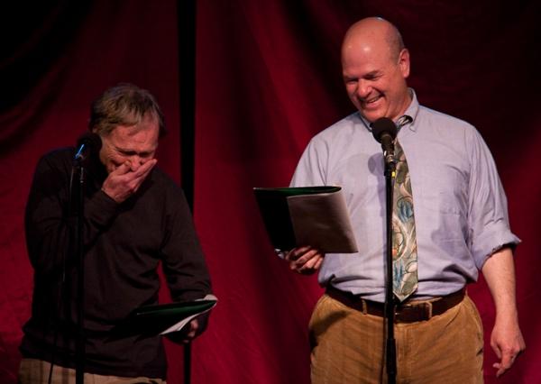Dick Cavett and Larry Miller