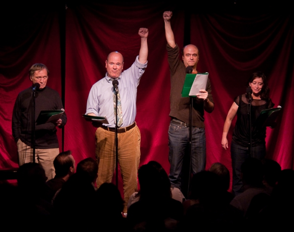 Dick Cavett, Larry Miller, Scott Adsit, and Rachel Dratch