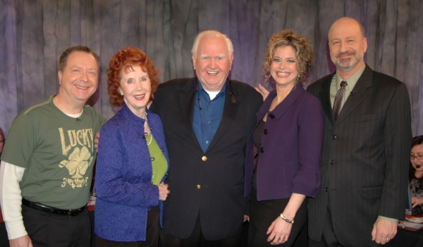 Paul O'Keefe, Carmel Quinn, Malachy McCourt, Laura Savini and David Rubinsohn both of WLIW
