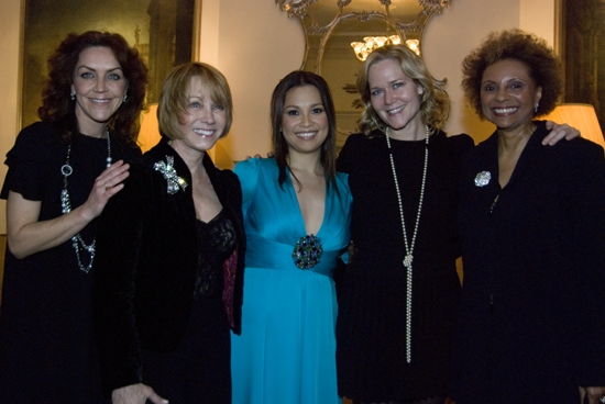 Andrea McArdle, Sandy Duncan, Lea Salonga, Rebecca Luker, Leslie Uggams at Lea Salonga Makes Her Cafe Carlyle Debut