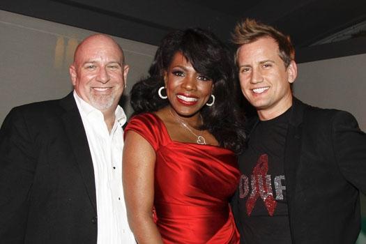 Music Director Gerald Sternbach, Sheryl Lee Ralph and Producer Chris Isaacson at Upri Photo
