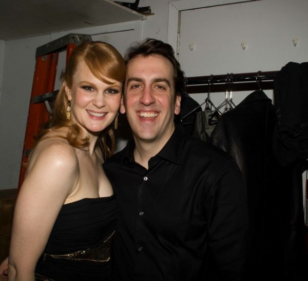 Kate Baldwin and Musical Director Rob Berman at Kate Baldwin Sings At Birdland