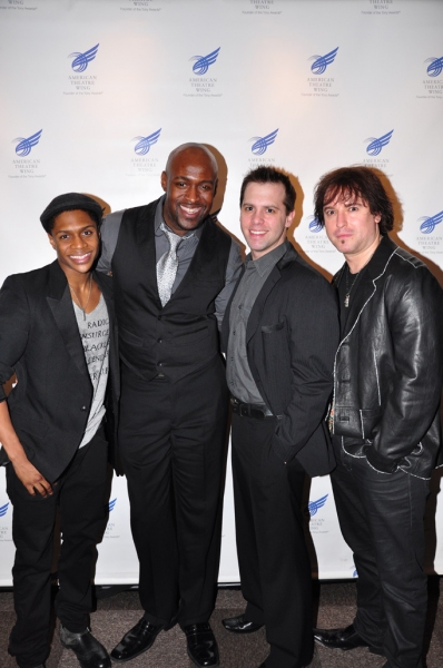 Ephraim Sykes, John Eric Parker, Brad Bass, Christopher Jahnke at Photos Coverage: Butler, D'Arcy James et al. at American Theatre Wing's Larson Grants