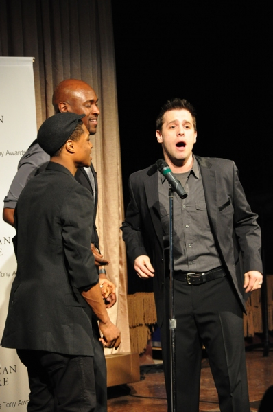 Memphis Trio: Ephraim Sykes, John Eric Parker, Brad Bass at Photos Coverage: Butler, D'Arcy James et al. at American Theatre Wing's Larson Grants