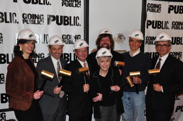 Kate Levin, Andrew D. Hamingson, Oskar Eustis, Gail Papp, Sam Waterston, Warren Spect Photo
