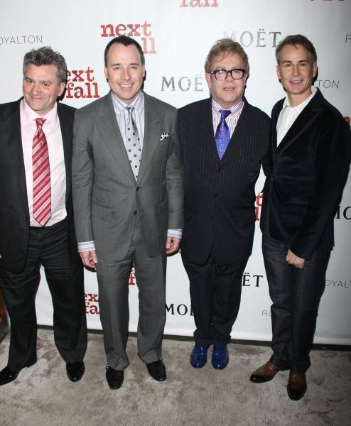 Anthony Borelli, David Furnish, Elton John & Geoffrey Nauffts Photo