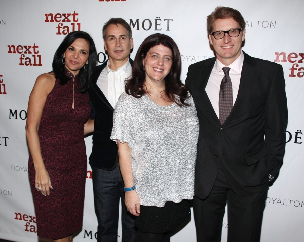 (L-R) Producer Barbara Manocherian, playwright Geoffrey Nauffts, director Sheryl Kaller and producer Richard Willis at Photos: NEXT FALL Celebrates Final Preview