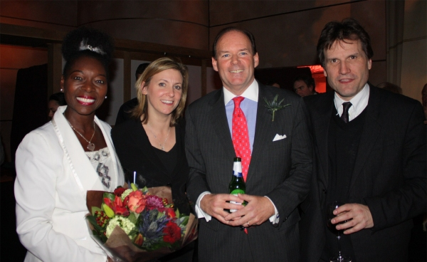 Floella Benjamin, Kate Cavalle, Colin Grassie, and Patrick Spottiswoode at Gala Performance Of Playing Shakespeare with Deutsche Bank: Macbeth