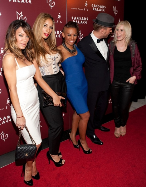 Robin Antin, Leona Lewis, Mel B , Matt Goss and Natasha Bedingfield  at Matt Goss Live From Caesars Palace