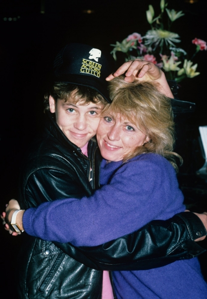Corey Haim with Mom in NYC. 1987