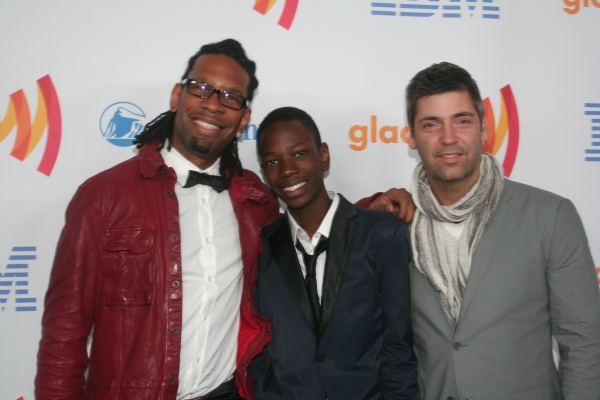LZ Granderson, Isaiah, and Steve Huesing at 21st Annual GLAAD Media Awards