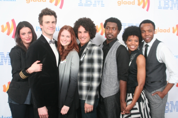 Jackie Burns, Gavin Creel, Allison Case, John Moauro, Brandon Pearson, Chasten Harmon and Tommar Wilson