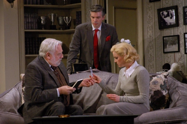 Ed Dixon, Tom Hammond and Cat Walleck  at DIAL M FOR MURDER at The John W. Engeman Theater