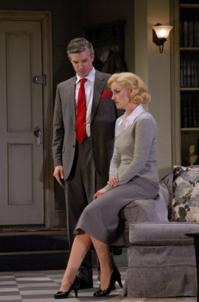 Tom Hammond and Cat Walleck at DIAL M FOR MURDER at The John W. Engeman Theater