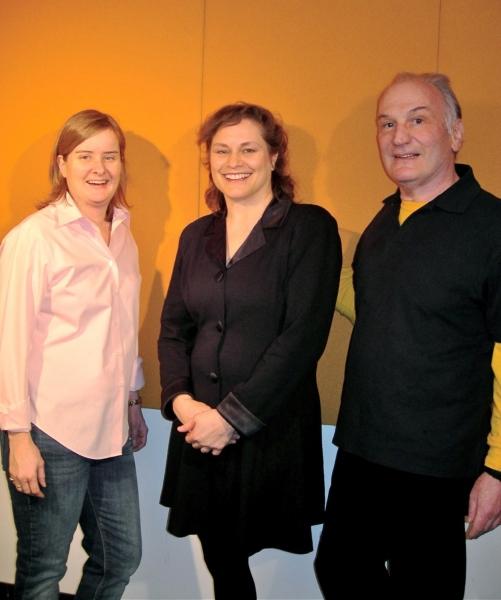 Kate Moira Ryan, Anita Hollander, and Ike Schambelan