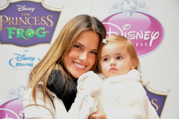 Alesandra Ambrosio with daughter, Anja at Anika Noni Rose and 'Princess Tiana' Join Royal Court of Disney Princesses