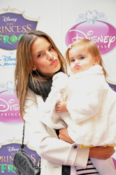 Alesandra Ambrosio with daughter, Anja