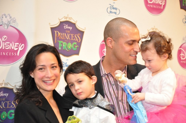 Nigel Barker with Cristen and children, Jack and Jasmine
