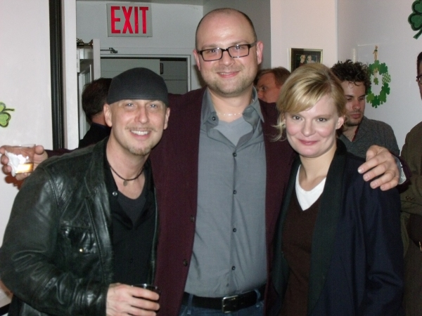 Steve Marzullo, Carl Andress and Martha Plimpton Photo