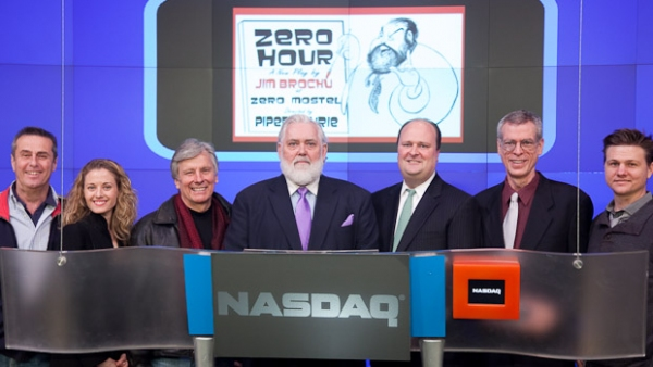 Richard Bell, Christiane Amorosia, Producer Kurt Peterson, Jim Brochu, NASDAQ VP David Wickes, Steve Schalchlin, Jeramiah Peay