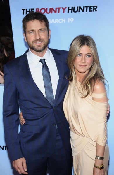 Gerard Butler & Jennifer Aniston at THE BOUNTY HUNTER Premieres in NYC