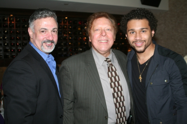 Joseph Callari (Drama Desk Awards Associate Producer), Robert R. Blume (Drama Desk Executive Producer) and Corbin Bleu