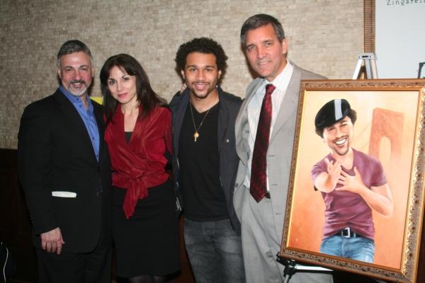 Joseph Callari, Valerie Smaldone, Corbin Bleu and Bruce Dimpflmaier