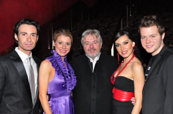 Padraic Moyles, Melissa Convery, Bill Whelan, Rocio Montoya, and Irish Dancer