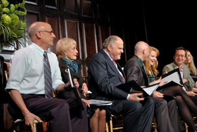 Tom Viola, Jane Powell, George S. Irving, Michael Cerveris, Kate Baldwin, Michael Riedel and Diane Stilwell Weinberg