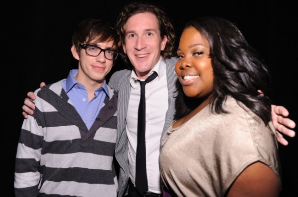 Kevin McHale, Executive Producer Ian Brennan and Amber Riley