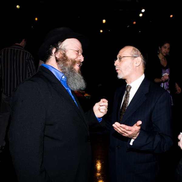 Yisrael Campbell with Mohel Rabbi Yehoshua Krohn