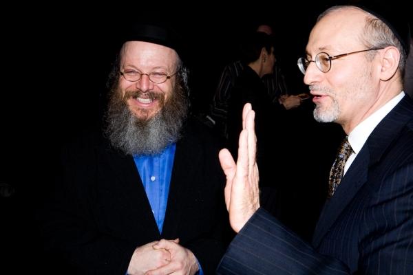 Yisrael Campbell with Mohel Rabbi Yehoshua Krohn