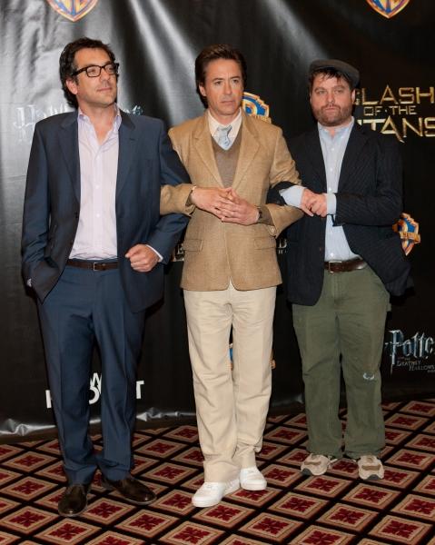 Todd Phillips, Robert Downey Jr. and Zach Galifianakis