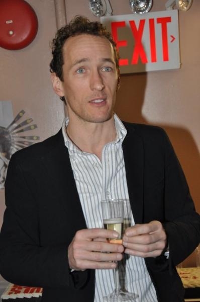 Jeffrey Seller makes a toast