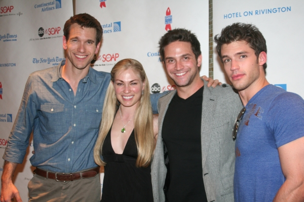 Adam Mayfield, Melanie Butler, Brandon Narash and David Gregory at ABC Daytime and SOAPNet Salute BC/EFA