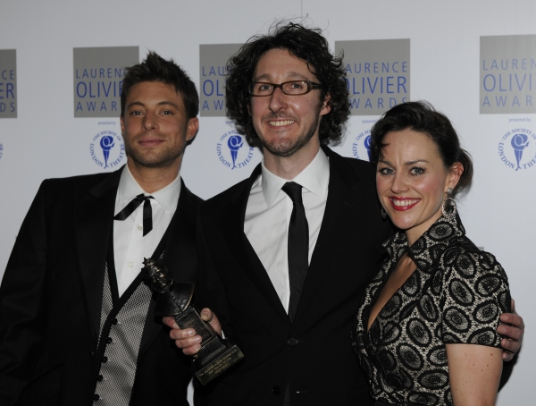 Duncan James,  Timothy Sheader and Jill Halfpenny at Olivier Awards After Party!