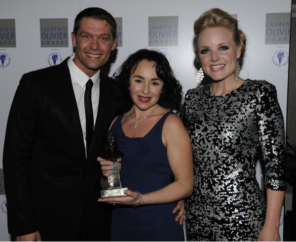 John Partridge, Samantha Spiro and Kerry Ellis at Olivier Awards After Party!