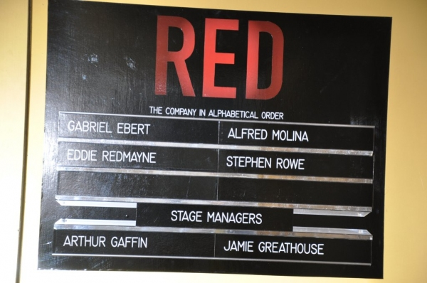 UP ON THE MARQUEE: RED at The Golden Theatre!