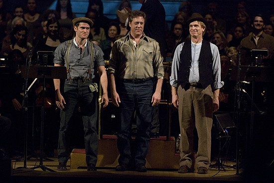 Steven Pasquale, Peter Halverson, Anthony Dean Griffey at Fonda, Ebersole et al. in Collegiate Chorale's GRAPES OF WRATH
