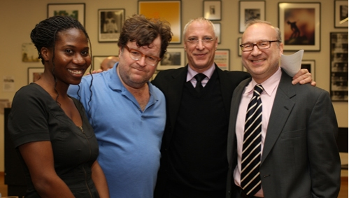 Janine Nabers; Kenny Lonergan; New School Drama Director Robert LuPone; New School Drama Playwright Chair Pippin Parker