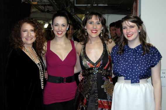 Melissa Manchester, Erin Denman, Farah Alvin and Kristen Dausch