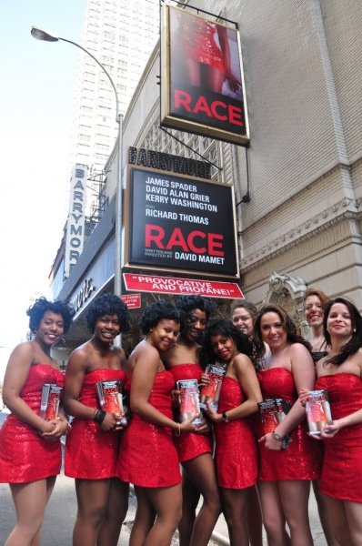 Photos: RACE's Red Dresses Take Over Times Square