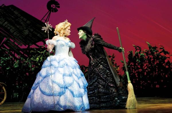 Louise Dearman (Glinda) and Rachel Tucker (Elphaba)