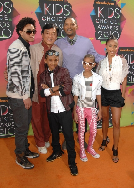 Jackie Chan, Will Smith, Jada Pinkett Smith and family