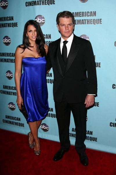 Matt Damon and Luciana Barroso Photo