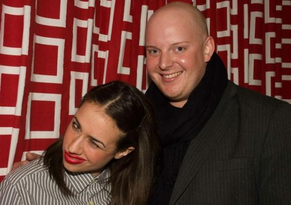Backstage with Miranda and musical director Darren Ledbetter