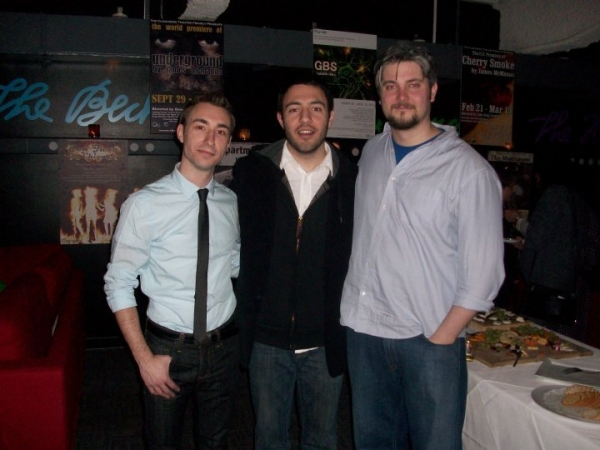 Jason Jacoby and Curran Connor with Clockwork's Artistic Director and Director of G.B.S. Jay Rohloff